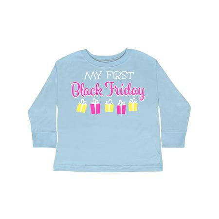 My 1st Black Friday Gift Shopping Toddler Long Sleeve T-Shirt