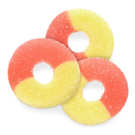 BAYSIDE CANDY GUMMY STRAWBERRY BANANA RING, 1LB](Gummy Sharks Candy)