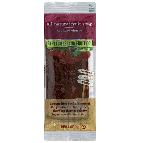 Stretch Island Fruit Orchard Cherry All-Natural Fruit Strips, 0.5 oz, (Pack of 30)