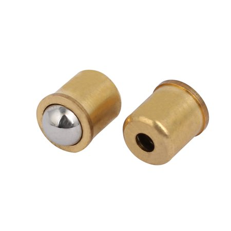 5 Pcs 8mm Dia Brass Body 11.7N Full End Pressure Press In Ball Point Spring Plunger - image 2 of 3