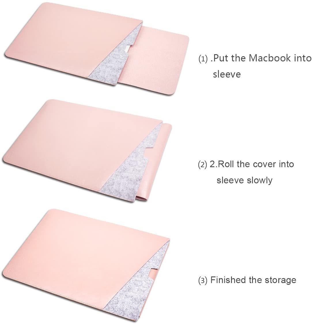 WALNEW 13.5 Microsoft Surface Book 2015//2016 Protective Soft Sleeve Case Surface Book 2 2017 Cover Bag with Safe Interior and Exterior Mouse Pad Brown