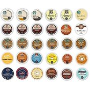 30 Pack - Variety Flavored Coffee Sampler K-Cup for Keurig K Cup Brewers and 2.0 brewers - From Top Brand Names Green Mountain,