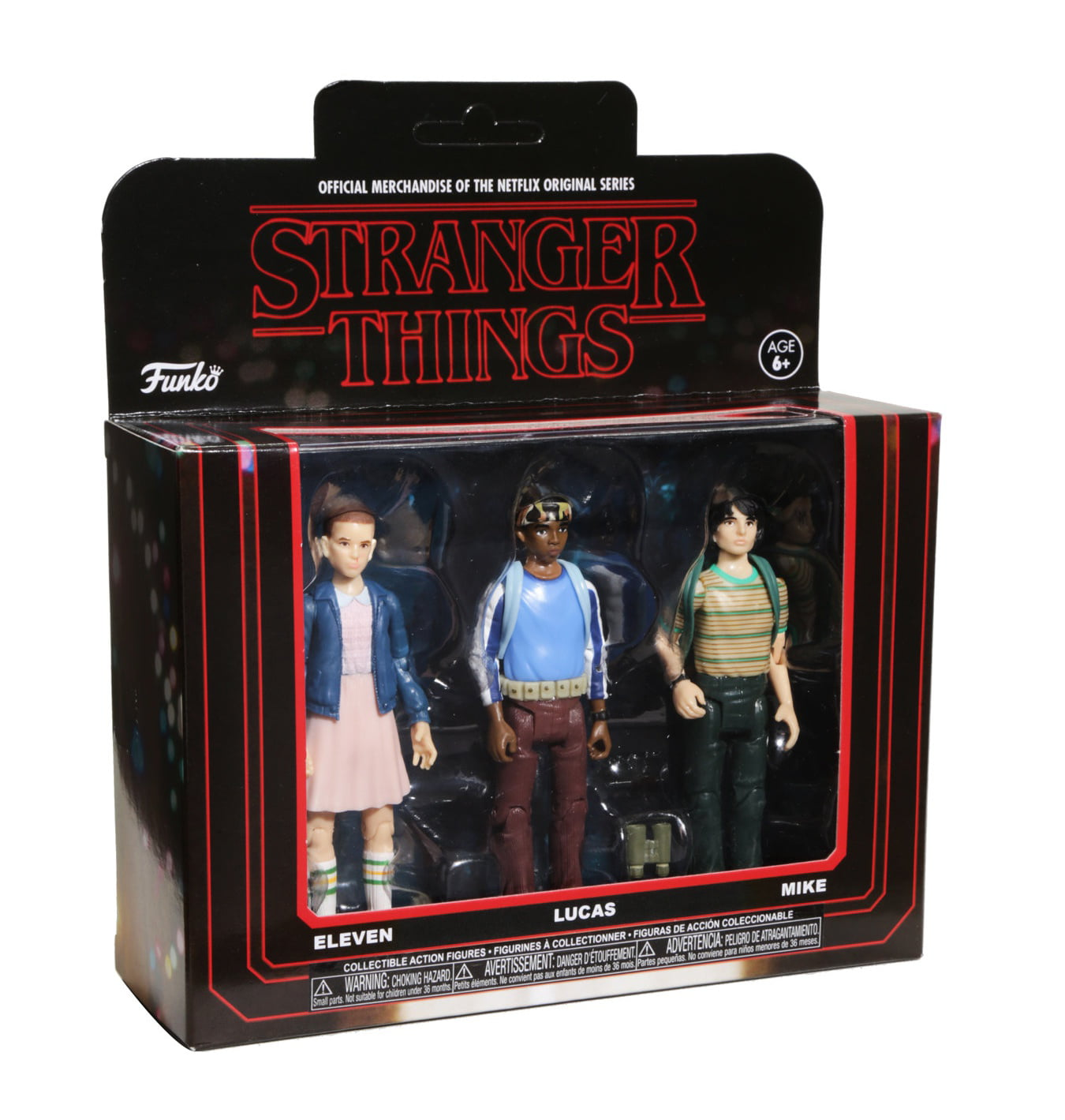 Funko Action Figure Stranger Things 3PK-Pack 1 Collectible