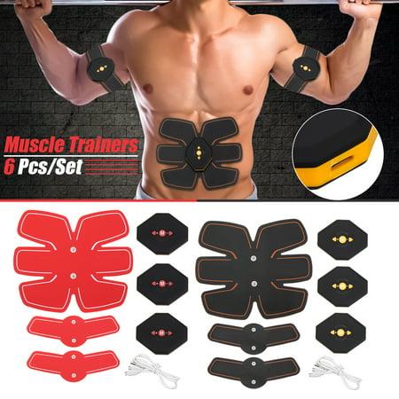 Abdomen+Arm Lap Muscle Stimulator Training Electrical Body Shape Trainer ABS Set