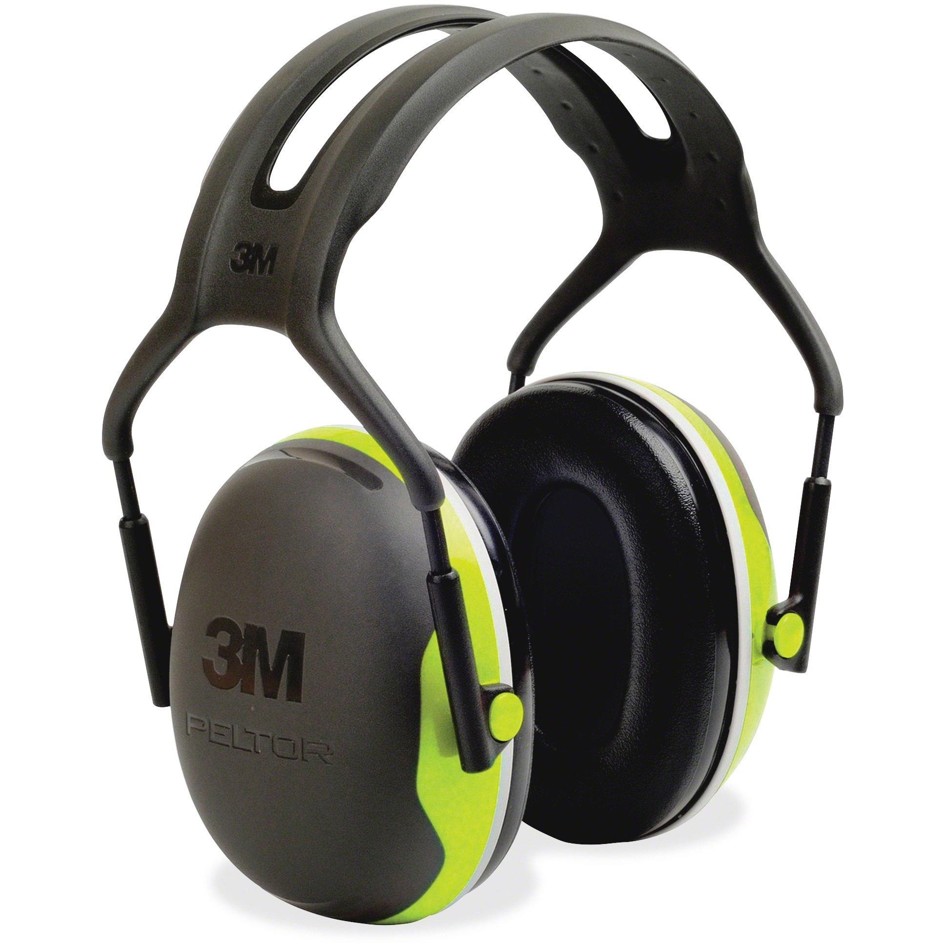 Peltor Black And Chartreuse Model X4A/37273(AAD) Over-The-Head Hearing Conservation Earmuffs