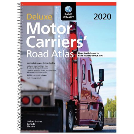 Rand Mcnally 2020 Deluxe Motor Carriers Road (Rand Mcnally Deluxe Motor Carriers Road Atlas 2018)