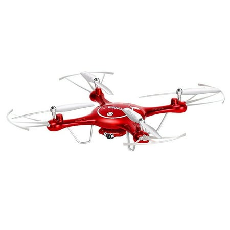Syma X5UW Wifi FPV 2.4Ghz RC Drone Quadcopter with 720P HD Camera, Flight Plan Route App Control and Altitude Hold Function - Red