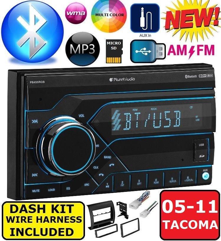 05-11 TOYOTA TACOMA AM/FM/BLUETOOTH/SD/USB CAR RADIO STEREO PKG WITH EQ