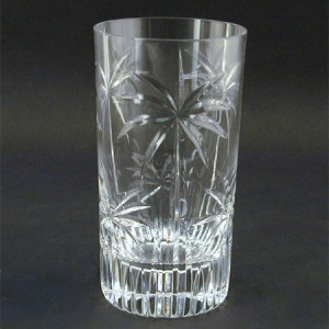 Individual 11 oz. Palm Tree Tropical Clear Crystal Highball Glass Barware Drinkware