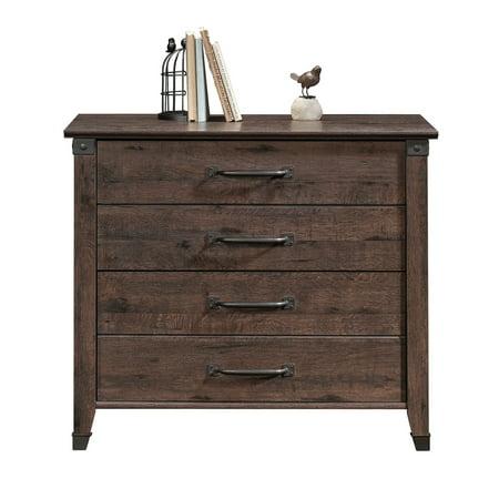 Sauder Carson Forge Lateral File Cabinet, Coffee Oak Finish