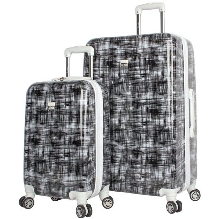 NICOLE MILLER STYLE LIZBETH COLLECTION 2-PC HARDSIDE LUGGAGE SET IN BLACK Black Luggage Collection