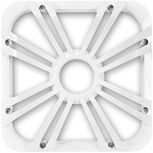 Kicker 11L712GLW LED, White 12-Inch Square Subwoofer Grille for 11S12L7