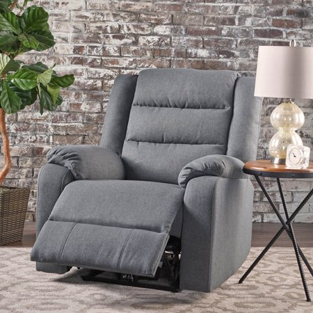 Noble House Gable Cushioned Fabric Powered Recliner, (Power Gable)