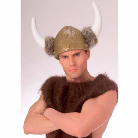 Deluxe Viking Helmet Adult Halloween Costume Accessory (Toy Viking Helmet)