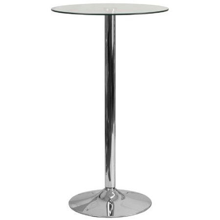 Flash Furniture 23.75'' Round Glass Table with 41.75''H Chrome Base