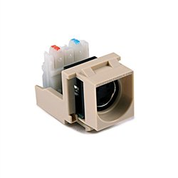 S-Video Quickport Insert - Ivory 5Pack