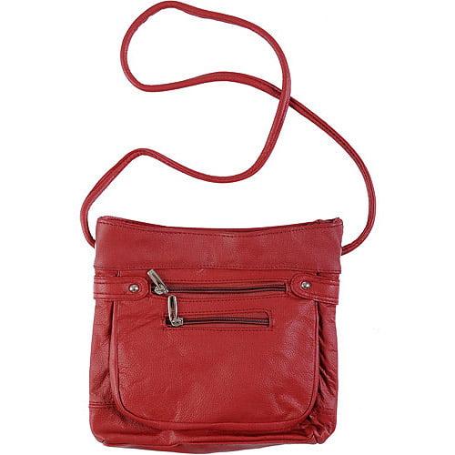 Brinley Co Genuine Leather Cross-body Handbag