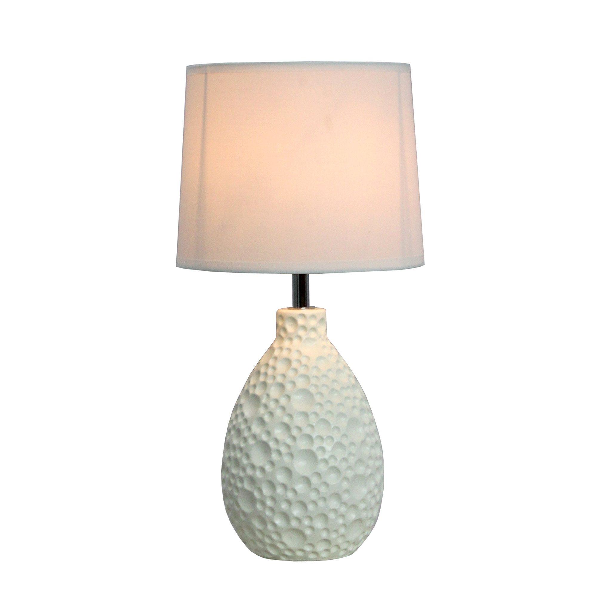 Simple designs texturized stucco ceramic oval table lamp walmart aloadofball Image collections