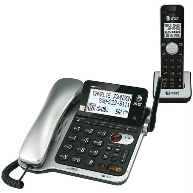 AT&T AtandT CL84102 Corded-Cordless Phone System With Ans...
