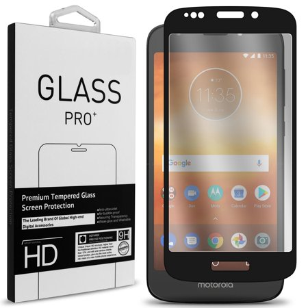 san francisco 08f02 2fd34 CoverON Motorola Moto E5 Play / Moto E5 Cruise Tempered Glass Screen  Protector - InvisiGuard Series Full Coverage 9H with Faceplate (Case  Friendly)
