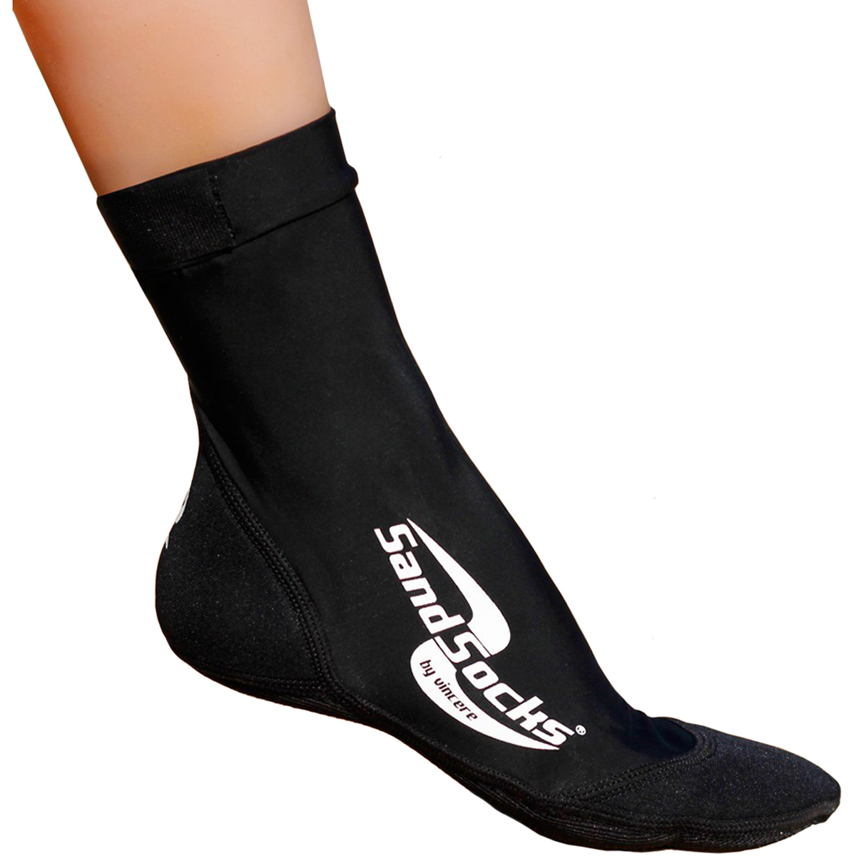 Sand Socks Classic High Top Neoprene Athletic Socks - Black
