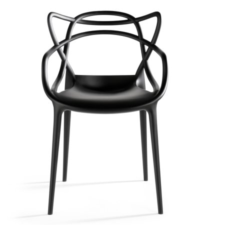 Molded Plastic Patio Furniture.2xhome Black Stackable Contemporary Modern Designer Molded Plastic Chairs Assembled With Arms Open Back Armchairs For Kitchen Dining Chair Outdoor