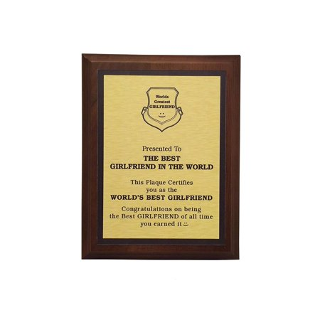 Aahs Engraving Worlds Greatest Plaques (Best Girlfriend In The World, Gold)