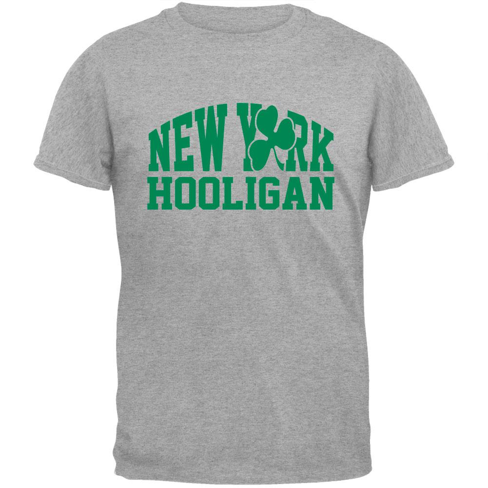St. Patricks Day - New York Hooligan Grey T-Shirt