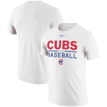 Nike White Baseball Shirt (Chicago Cubs Nike Practice Performance T-Shirt - White)