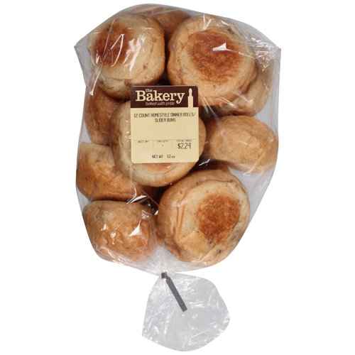 The Bakery Homestyle Dinner Rolls/Slider Buns, 12 ct, 12 oz