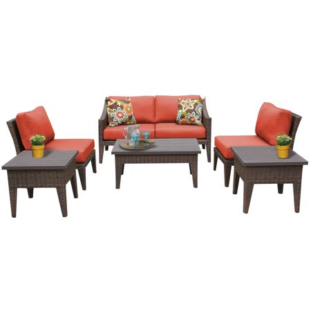 soho 7 piece outdoor wicker patio furniture set 07e