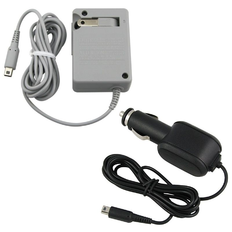 Insten Car + AC Home Wall Charger For New NINTENDO 3DS / 3DS XL / LL / DSi / DSi LL / XL