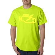 Trendy USA 865 - Unisex T-Shirt Check Engine Light Car Repair Mechanic 3XL Safety Green
