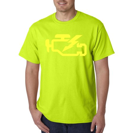Repair Tee - Trendy USA 865 - Unisex T-Shirt Check Engine Light Car Repair Mechanic 3XL Safety Green
