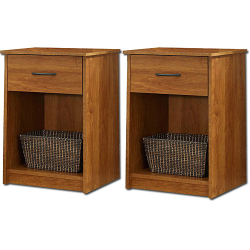 Mainstays Nightstand/End Table, Set of 2