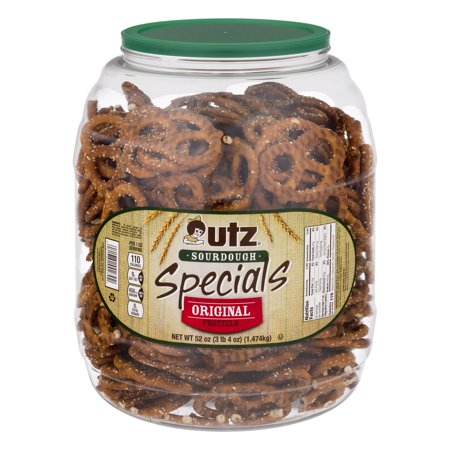 Utz Pretzels Original Specials Sourdough, 52.0 OZ (Halloween Pretzel Snack Bags)