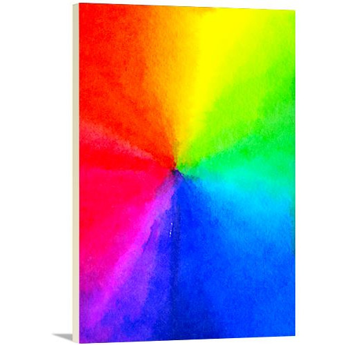 Artzee Designs Modern Rainbow Pride Graphic Art on Wrapped Canvas