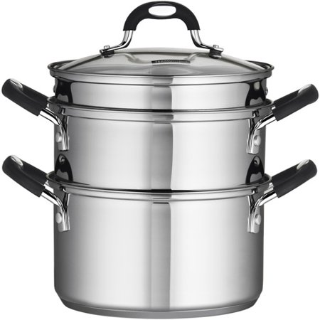 Steamer Boiler (Tramontina Stainless Steel 3 Quart Steamer & Double-Boiler, 4 Piece )