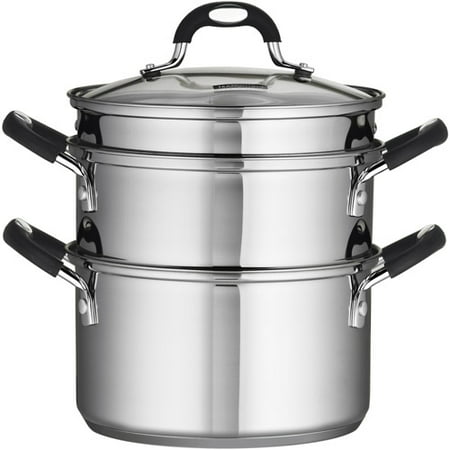Tramontina Stainless Steel 3 Quart Steamer & Double-Boiler, 4 -