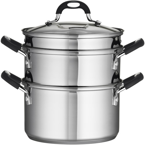 Tramontina 18/10 Stainless Steel 4-Piece 3-Quart Steamer/Double-Boiler
