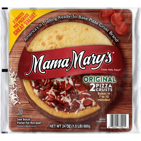 (3 Pack) Mama Mary's⢠Original Pizza Crusts 2 ct (Mini Pizza D'halloween)