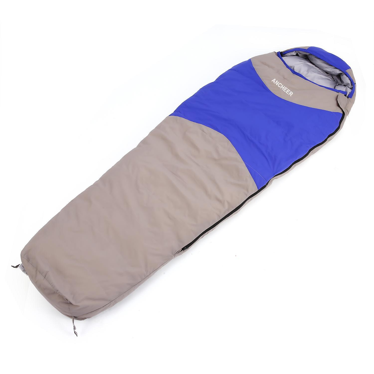 15 De.gree Foldable Ultralight Mummy Down Sleeping Bag Winter for Camping Hiking Travel SPHP by