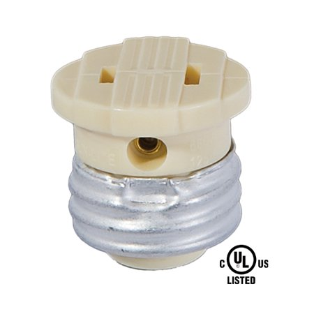 (B&P Lamp Medium Base Socket to Outlet Adapter)