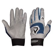 Professional Batting Gloves in Gray and Royal (Extra Small)