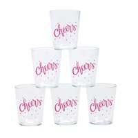 Cheers Plastic Shot Glasses (50Pc) - Party Supplies - 50 Pieces