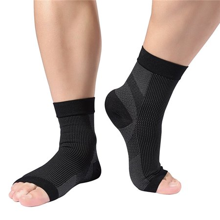 Plantar Fasciitis Arch Support Compression Foot Sleeves for Men & Women Ankle Pain Relief Ease Swelling,1 Pair (Best Plantar Fasciiti Sock)