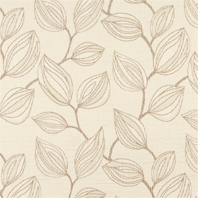 Designer Fabrics K0029B 54 in. Wide Beige And Off White, Large Leaves Contemporary Upholstery Fabric