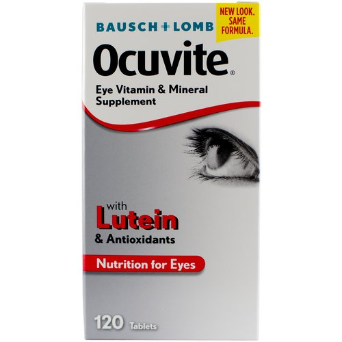Ocuvite W/Lutein Antioxidants & Zinc Tablets Vitamin & Mineral Supplement, 120 ct
