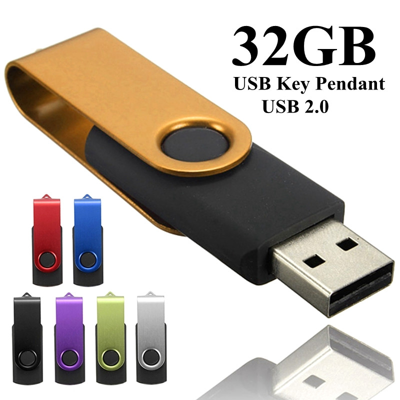 32GB Fold  USB 2.0 Flash Memory Stick Pen Drive Thumb Disk For Data Storage