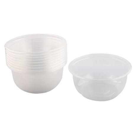Cuisine Accueil pique-nique en plastique à usage unique forme ronde bol riz 360ml clair 10 pcs - image 3 de 3